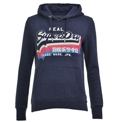 Superdry Rainbow Hoody - Blue