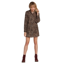 Volcom Fad Friend Dress - Animal
