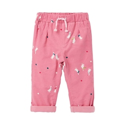Joules Scarlett Trousers - Pink Geese