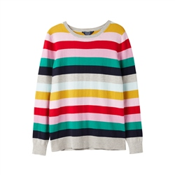 Joules Asha Jumper - Rainbow Stripe