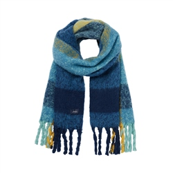 Joules Edgworth Scarf - Blue Check