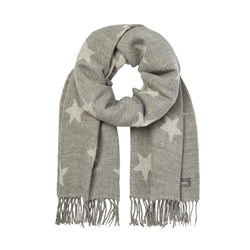 Joules Mardale Reversible Scarf - Grey Star