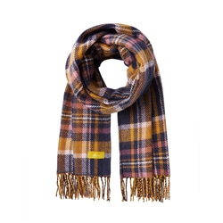 Joules Upton Scarf - Navy & Yellow
