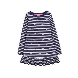 Joules Allie Dress - Navy Horses
