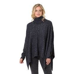 Animal Kyra Knit Cape - Indigo Blue Marl