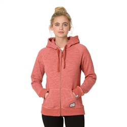 Animal Roo Zipped Hoody - Mineral Red Marl