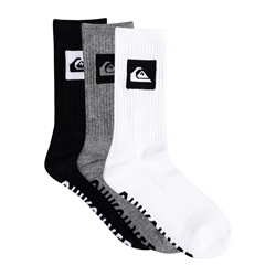 Quiksilver Crew 3 Pack Socks  - Assorted