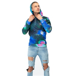 Hype Mens Cosmic Vision Hoody - Multi