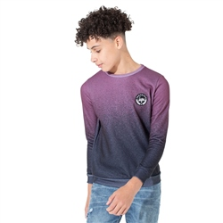 Hype Speckle Sweatshirt - Burgundy & Black