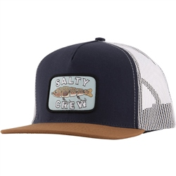 Salty Crew Paddle Tail Trucker Cap - Navy & Tan