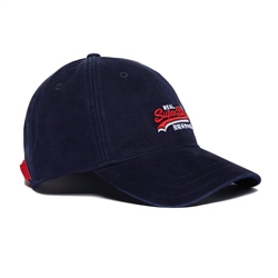 Superdry Wash Twill Cap - Navy