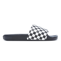 Vans Slide On Flip Flops - Checkerboard White