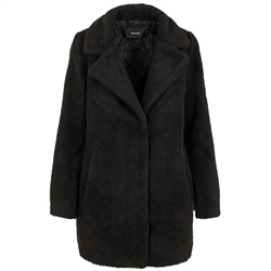 Vero Moda Zappa 3/4 Teddy Jacket - Black