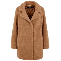 Vero Moda Zappa 3/4 Teddy Jacket - Tobacco Brown