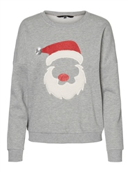 Vero Moda Xmas Sweet Sweatshirt - Light Grey
