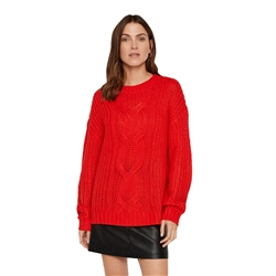 Vero Moda Presley Alpine Jumper - Risk Red