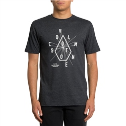 Volcom Eyechart T-Shirt - Heather Black