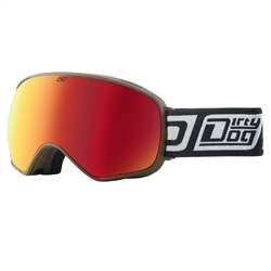 Dirty Dog Bullet Snow Goggles - Khaki & Red