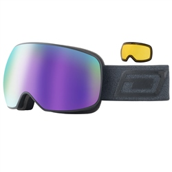 Dirty Dog Mutant Prophecy Snow Goggles - Black & Purple