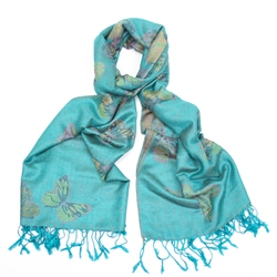 F & J Collection Deena Scarf - Blue
