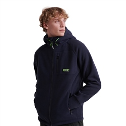 Superdry Polar Hooded Fleece - Eclipse
