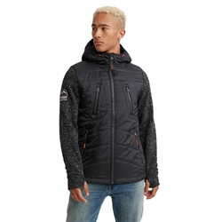 Superdry Storm Hooded Fleece - Black