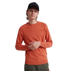 Superdry Orange Label Jumper - Orange