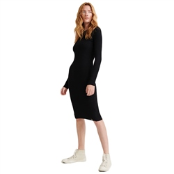 Superdry Annie Rib Dress - Black