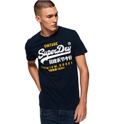 Superdry Premium Goods Duo Lite T-Shirt - Navy