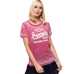 Superdry Burnout T-Shirt - Red
