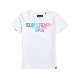 Superdry City Nights Ombre Puff T-Shirt - Optic