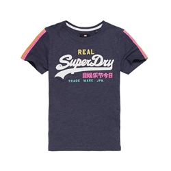 Superdry Sleeve Stripe T-Shirt - Blue