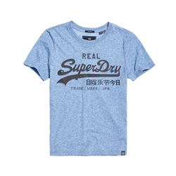 Superdry Vintage Logo Glitter Embossed T-Shirt - Blue