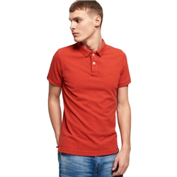 Superdry  Vintage Destroyed Polo Shirt - Orange