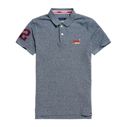 Superdry Classic Polo Shirt - Iron