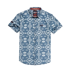 Superdry Mens Miami Loom Shirt - Indigo