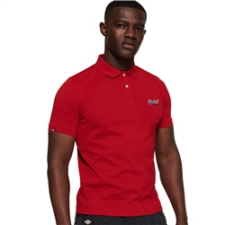Superdry Mercerised Lite City Polo Shirt - Red