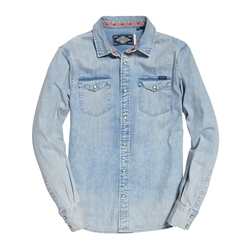 Superdry Resurrection Shirt - Light Blue