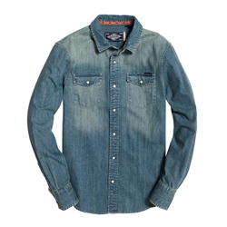 Superdry Resurrection Shirt - Medium Blue