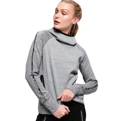 Superdry Core Gym Tech Taped Hoody - Grey