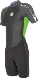 Alder Impact 3/2mm Shorty Wetsuit - Green & Grey (2019)