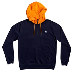 DC Shoes Rebel 1/2 Zipped Hoody - Indigo & Orange