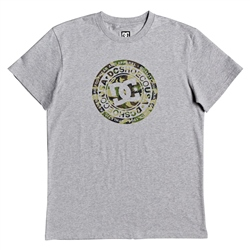 DC Shoes Circle T-Shirt - Grey Heather & Camo