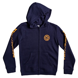DC Shoes Circle Star Zipped Hoody - Black & Orange