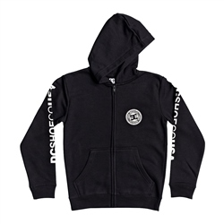 DC Shoes Circle Star Zipped Hoody - Black & White