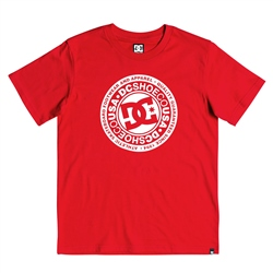 DC Shoes Boys Circle Star T-Shirt - Red & White