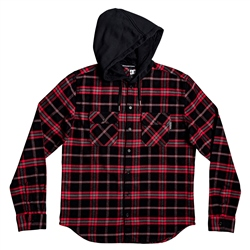DC Shoes Runnels Hooded Flannel Shirt - Black