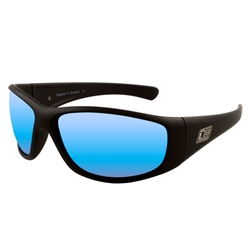 Dirty Dog Wolf Polarised Sunglasses - Black & Blue