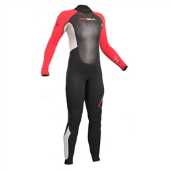 Gul Response 3/2mm Junior Back Zip Wetsuit - Black & Red (2020)