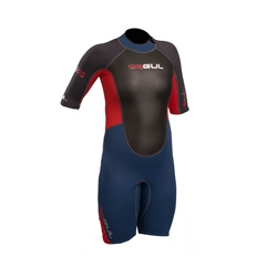 Gul Response 3/2mm Junior FL Shorty Wetsuit - Blue & Graphite (2020)